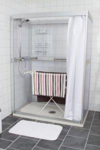 Västia duschrum, torkställning
