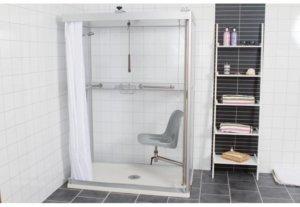 Västia duschrum och svängstol